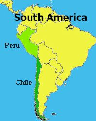 map of peru and chile Nigel Stott map of peru and chile